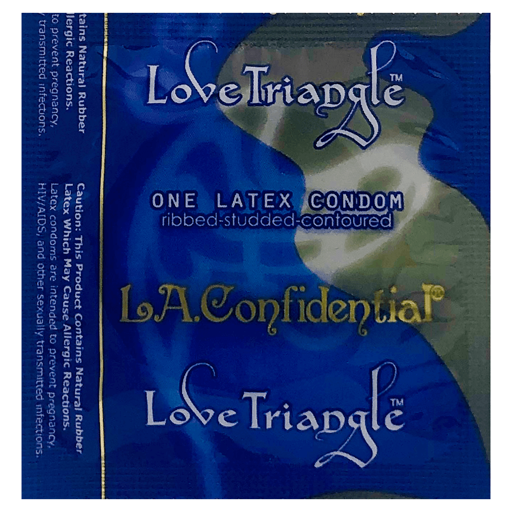 Image of Caution Wear LA Confidential Love Triangle Condoms 100-Pack