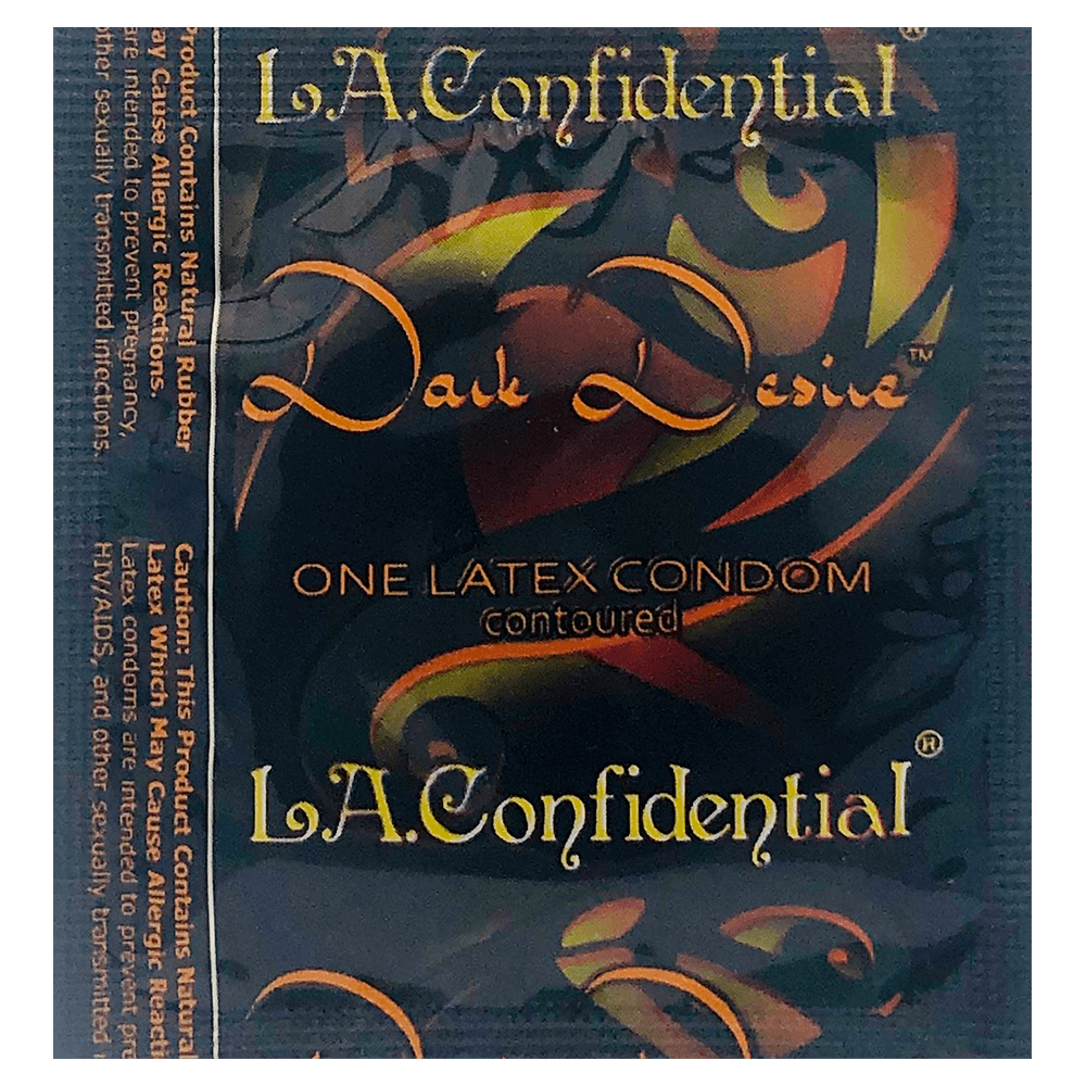 Image of Caution Wear LA Confidential Dark Desire Condoms 100-Pack