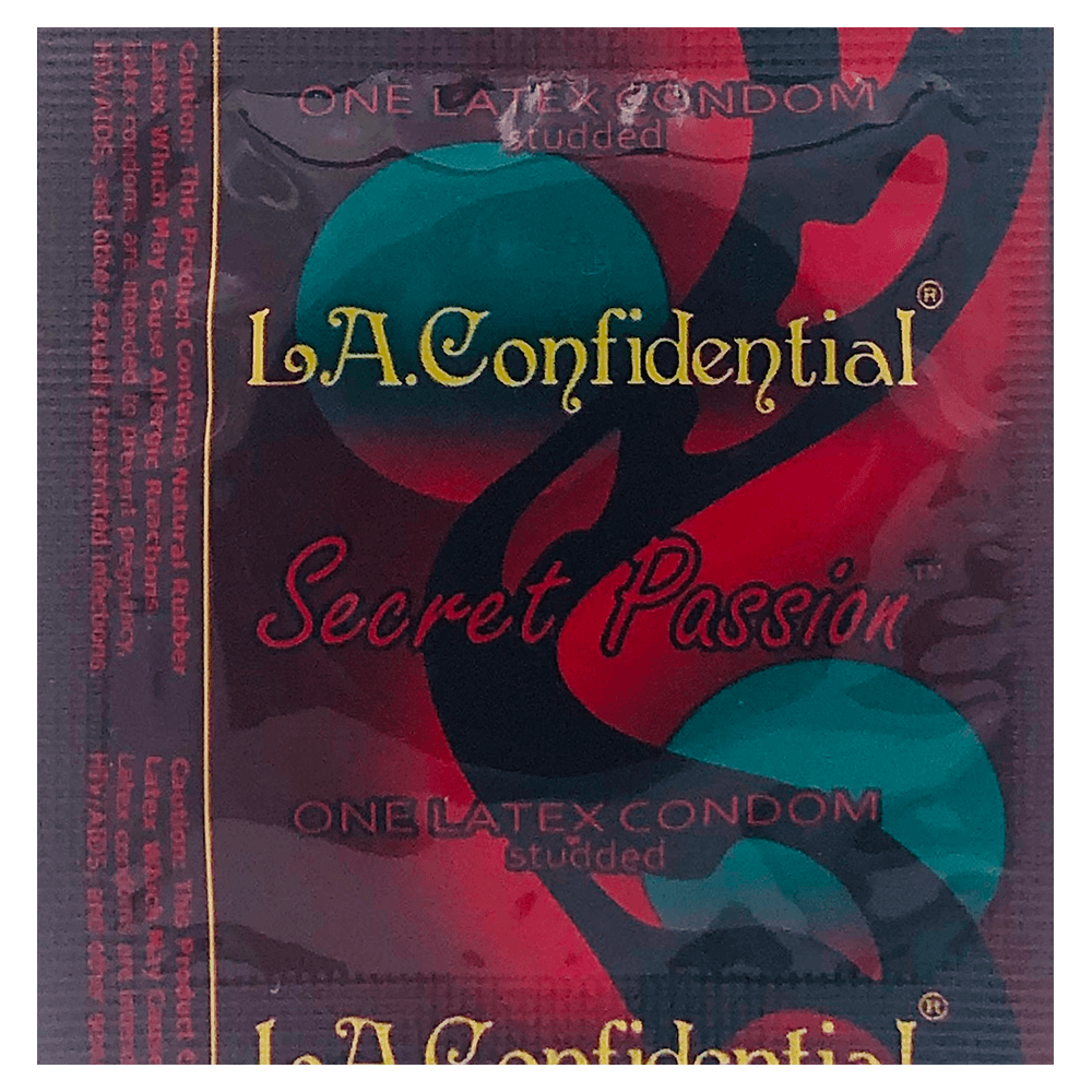 Image of Caution Wear LA Confidential Secret Passion Condoms 100-Pack
