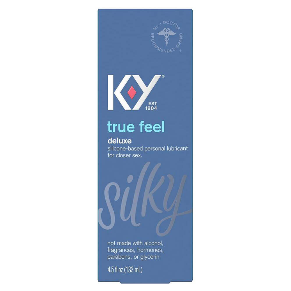 Image of K-Y True Feel Silicone Based Lubricant 4-Pack