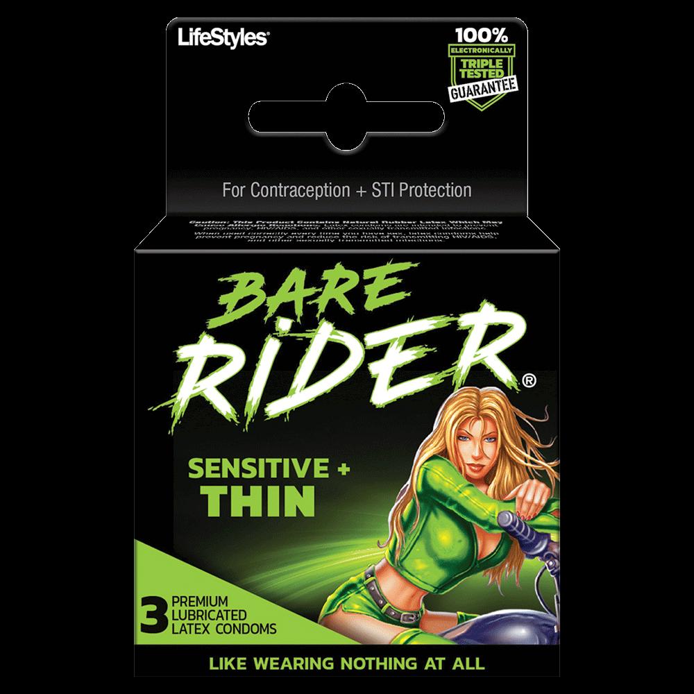 Image of LifeStyles Bare Rider Sensitive & Thin Condoms 24-Pack