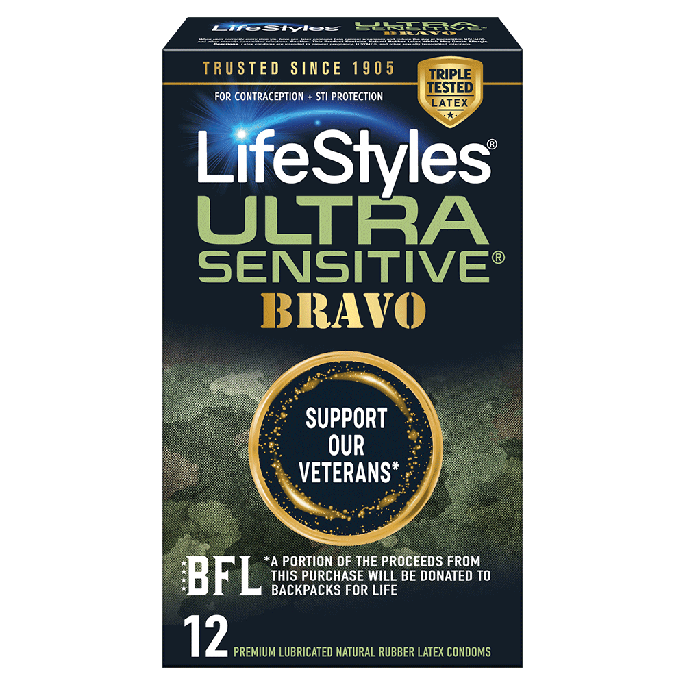Image of LifeStyles Ultra Sensitive Bravo Condoms 12-Pack