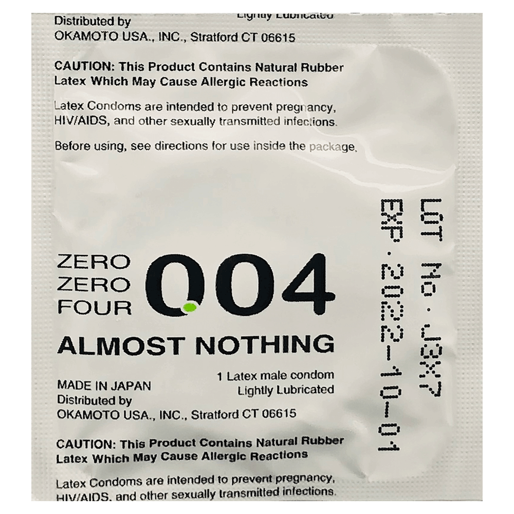 Image of Okamoto Crown Zero Zero Four Condoms 3-Pack