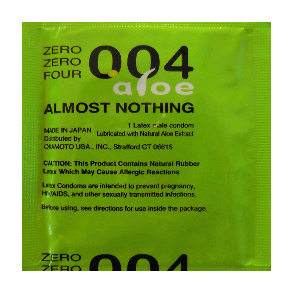 Image of Okamoto Zero Zero Four Aloe Condoms 3-Pack