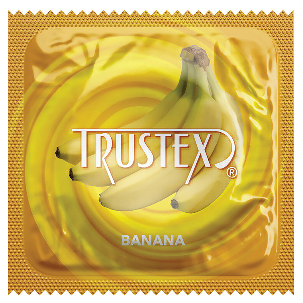 Image of Trustex Banana Flavored Lubricated Condoms 12-pack