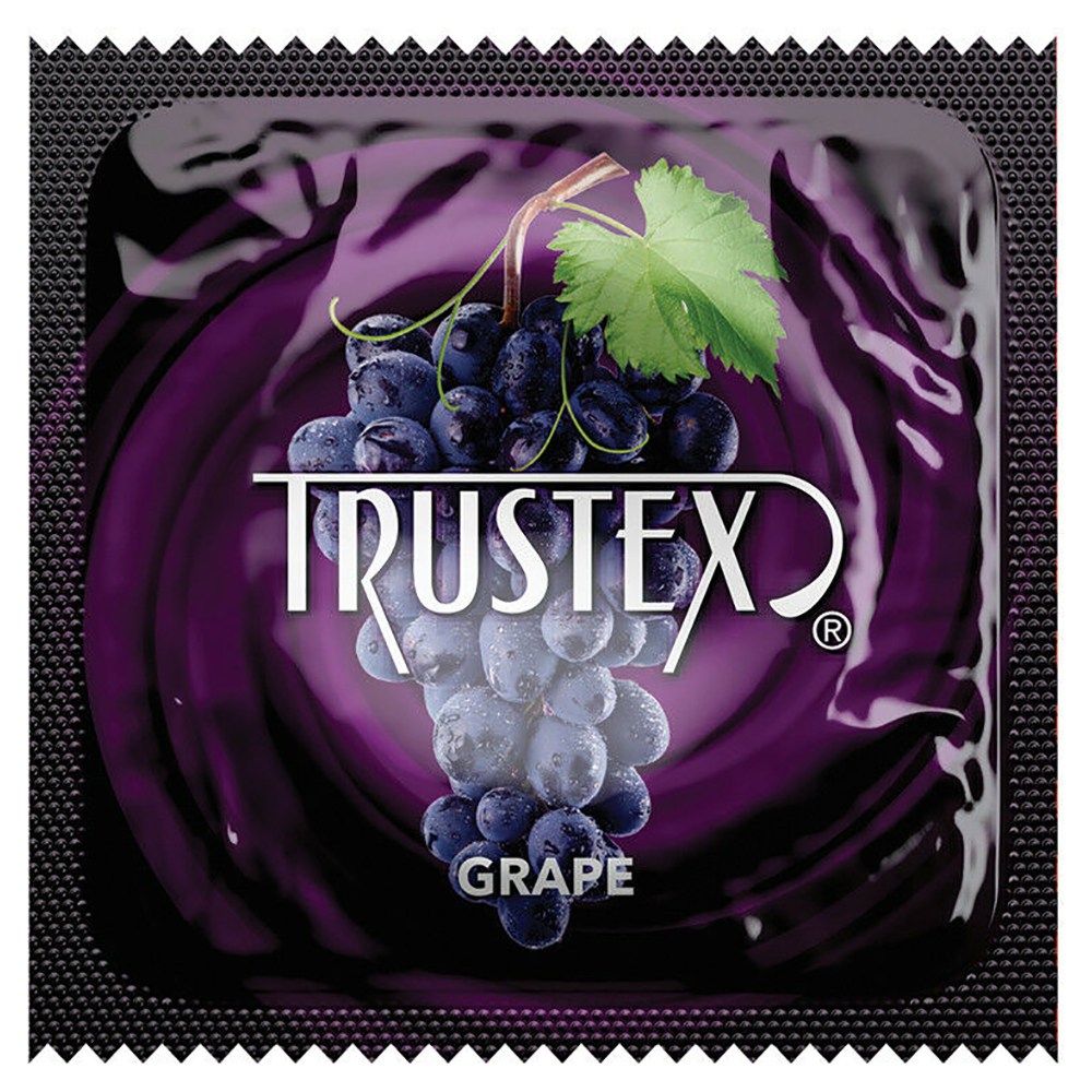 Image of Trustex Grape Flavored Lubricated Condoms 100-Pack