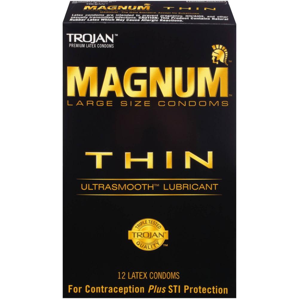 Image of Trojan Magnum Thin Lubricated Condoms 24-Pack