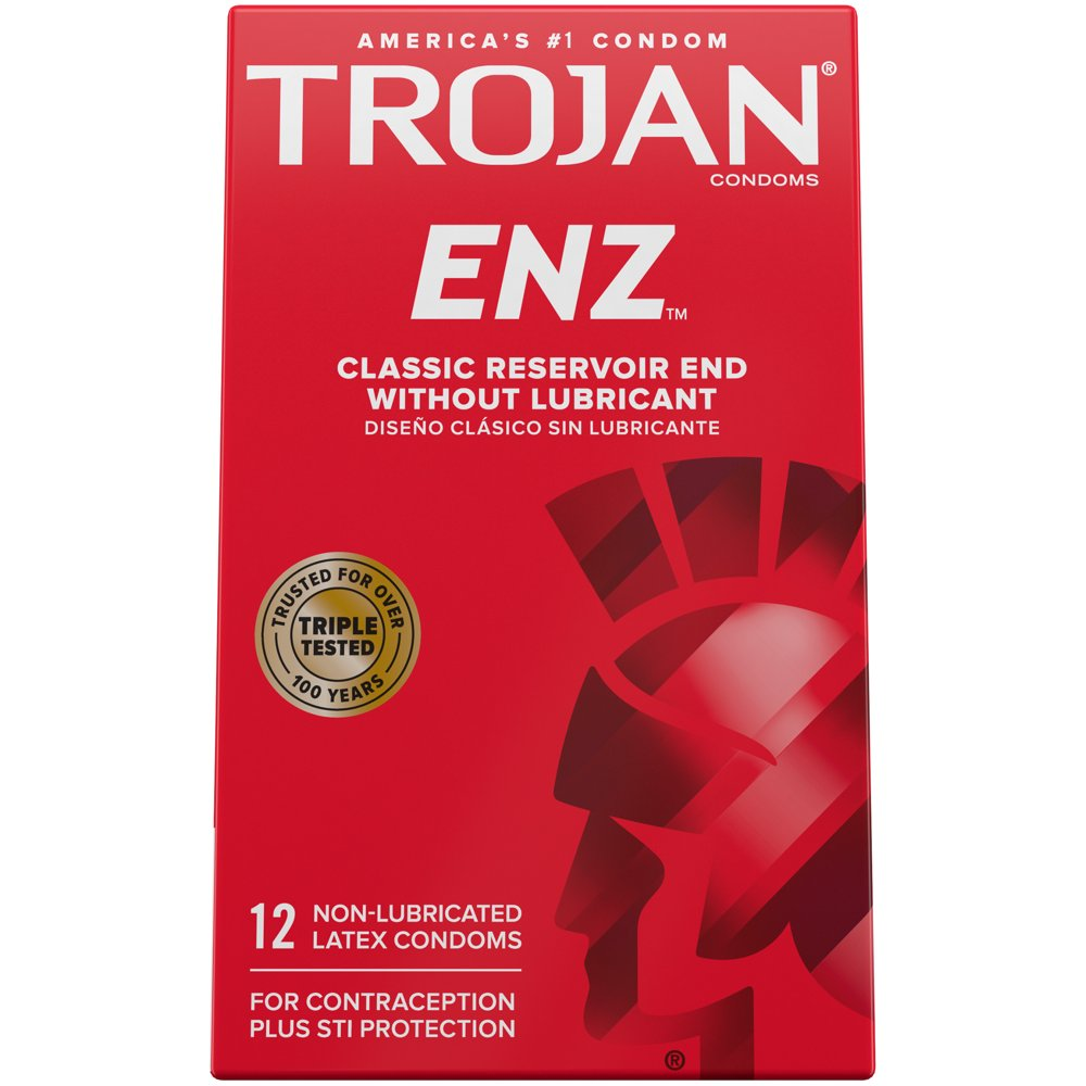 Image of Trojan ENZ Non-Lubricated Condoms 24-Pack