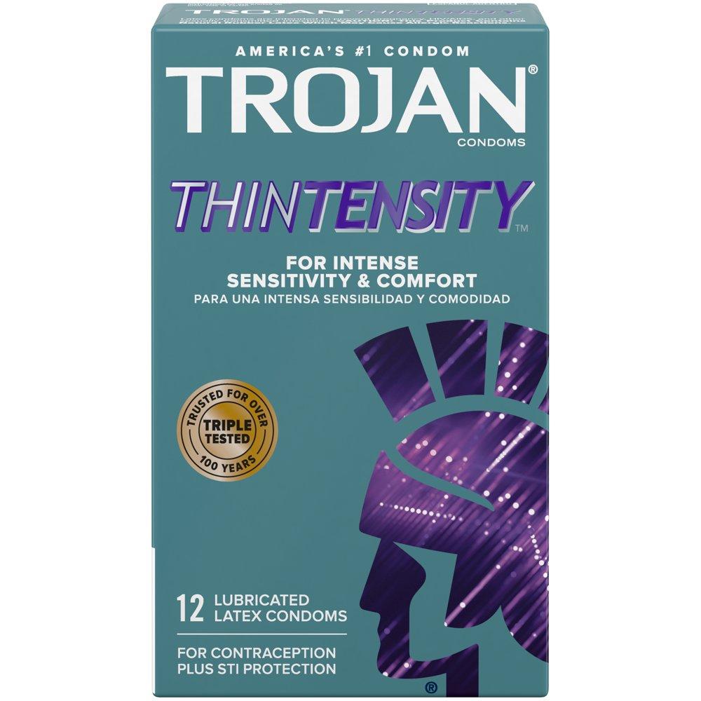 Image of Trojan Thintensity Lubricated Condoms 108-Pack