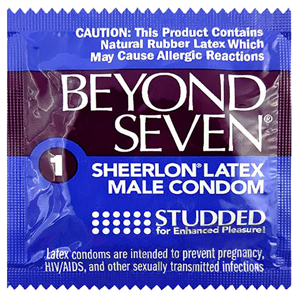 Image of Okamoto Beyond Seven Studded Condoms 100-Pack