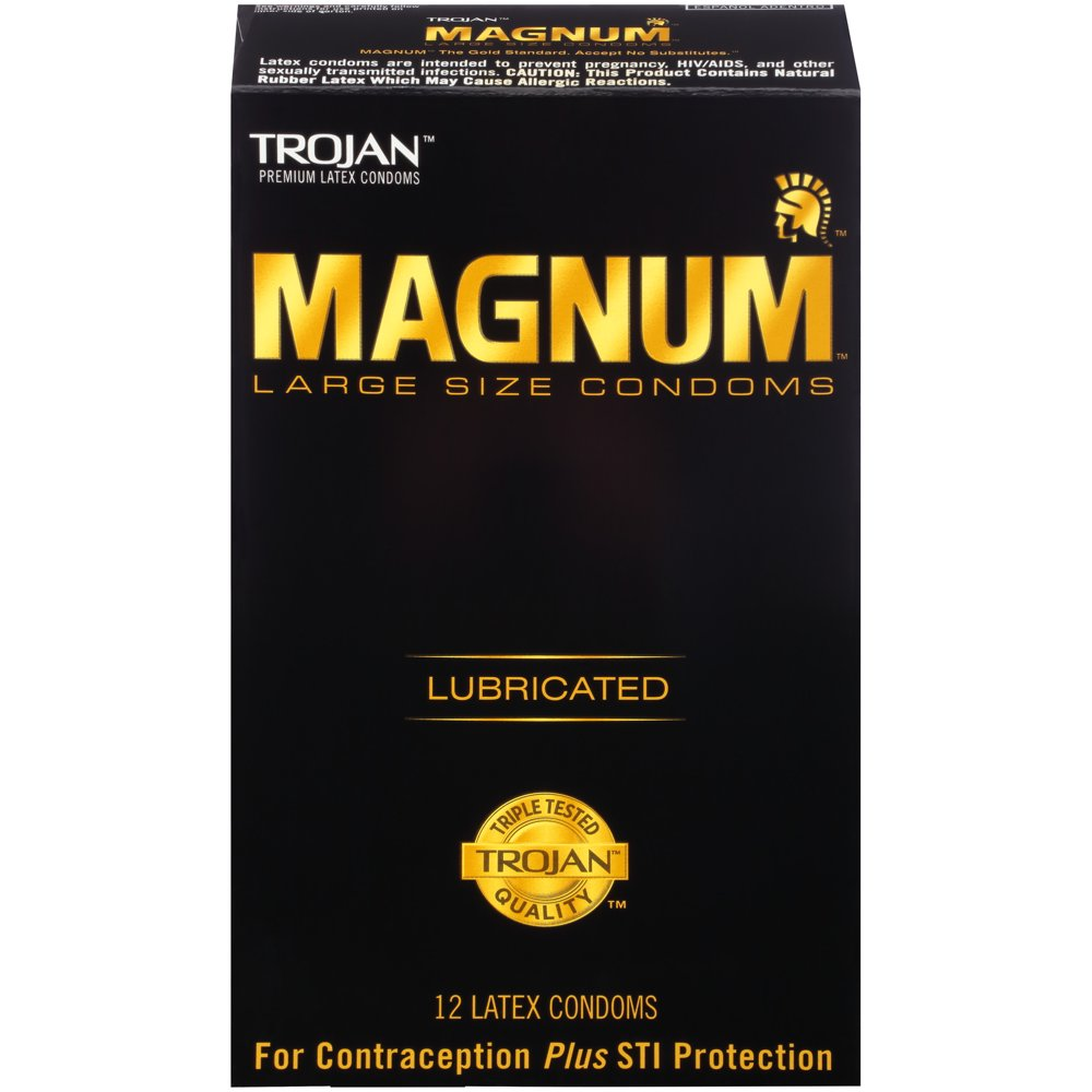 Image of Trojan Magnum Lubricated Condoms 24-Pack