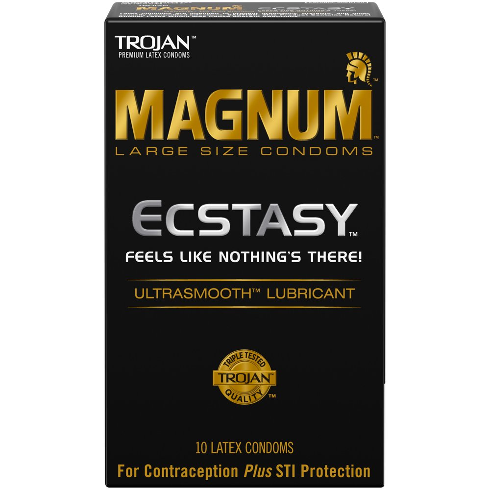 Image of Trojan Magnum Ecstasy Ultrasmooth Lubricated Condoms 10-pack