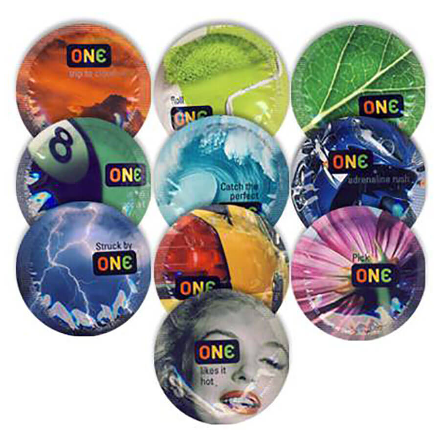 Image of ONE Color Sensations Condoms 100-pack