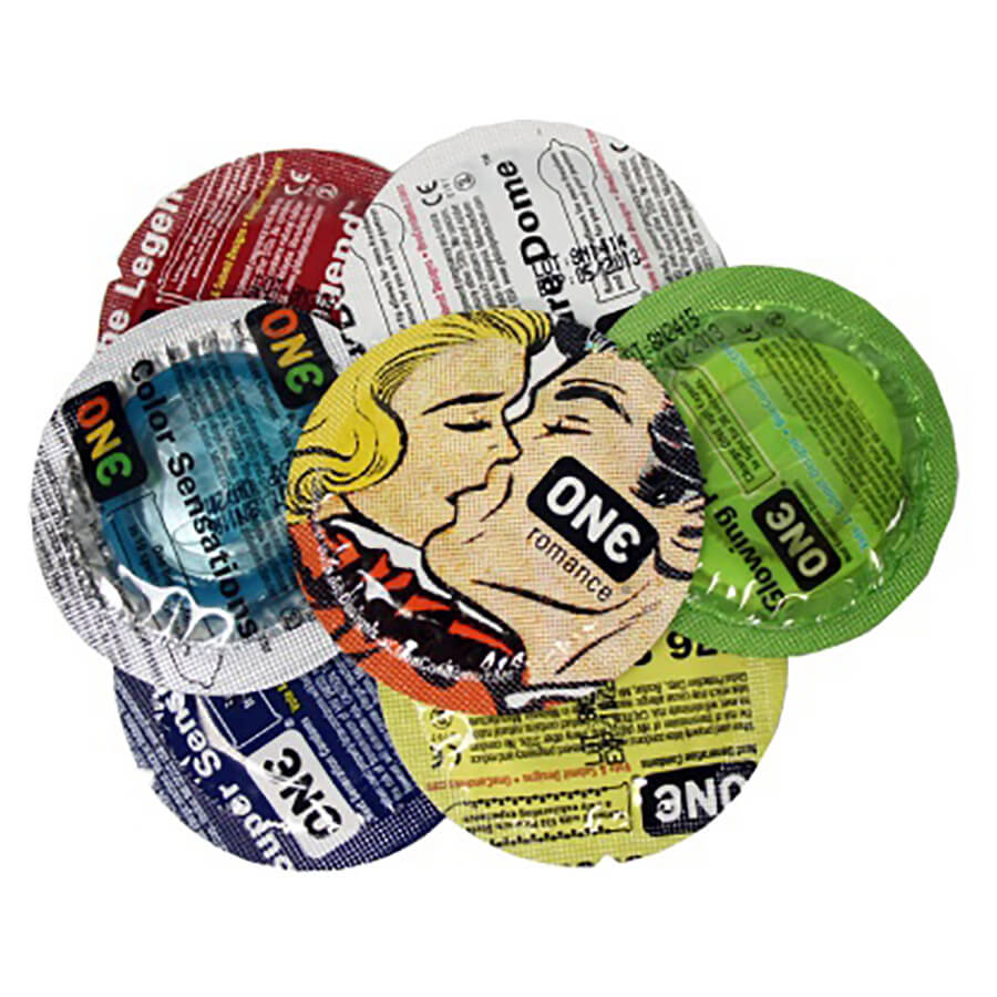 Image of ONE Mixed Pleasure Condoms 100-pack