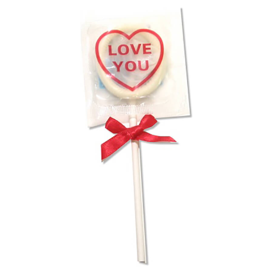 Image of Global Protection Love You Condom Pops 6-Pack