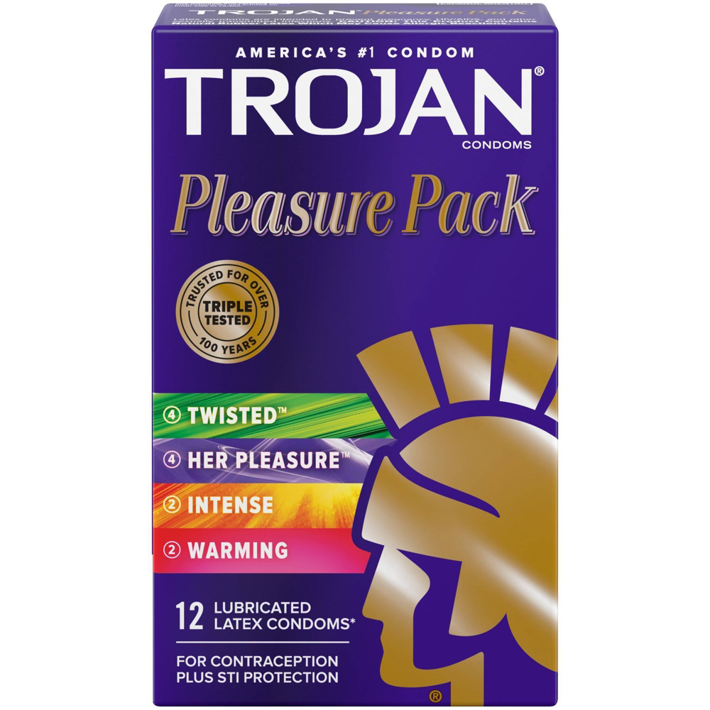 Image of Trojan Pleasure Pack Condoms 24-Pack