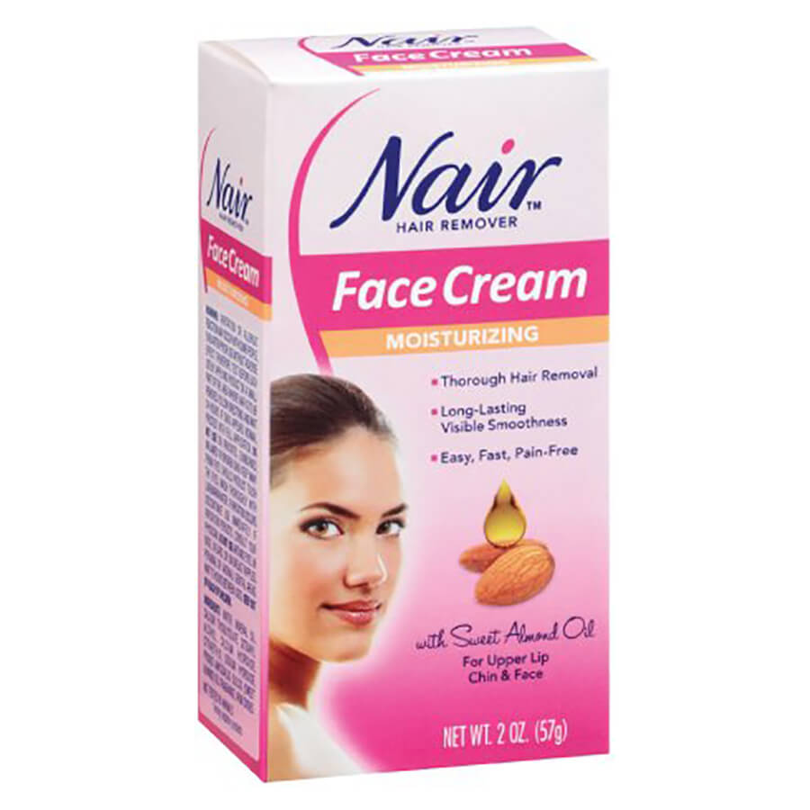 Image of Nair Moisturizing Face Cream Hair Remover 4-Pack