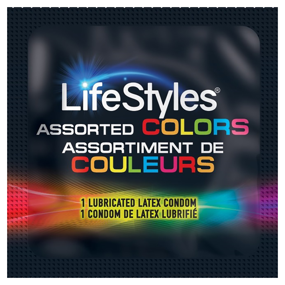 Image of Lifestyles Assorted Colors Condoms 36-pack