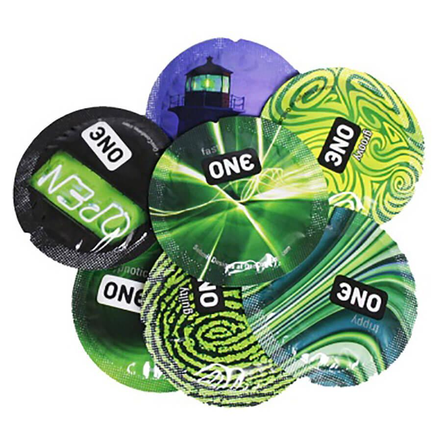 Image of ONE Glowing Pleasures Condoms 36-pack