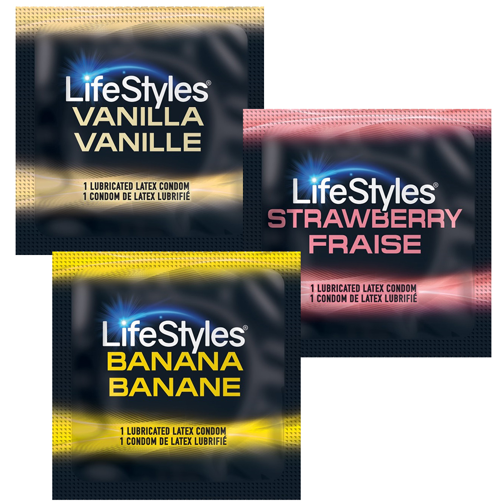 Image of Lifestyles Luscious Flavors Condoms 100-Pack
