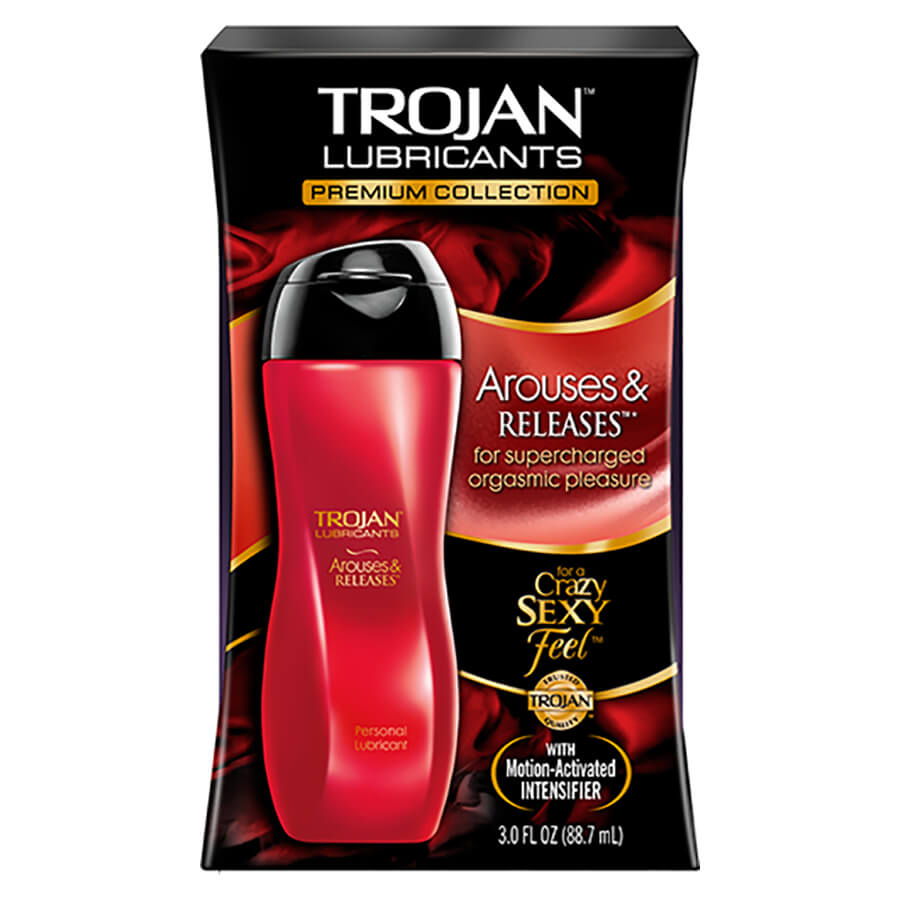 Image of Trojan Arouses and Releases Lubricant 4-Pack