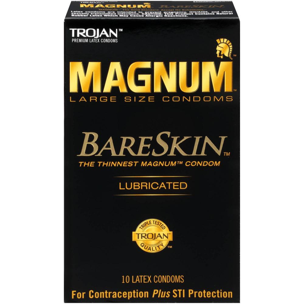 Image of Trojan Magnum BareSkin Lubricated Condoms 10-Pack